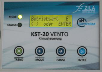 Menü und Bedientasten der KST-20 Vento
